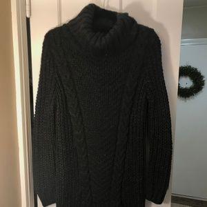 Dark Grey Turtle Neck Sweater Dress